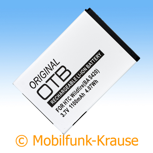 Akku für HTC Droid Incredible 1100mAh Li-Ionen (BA S420)