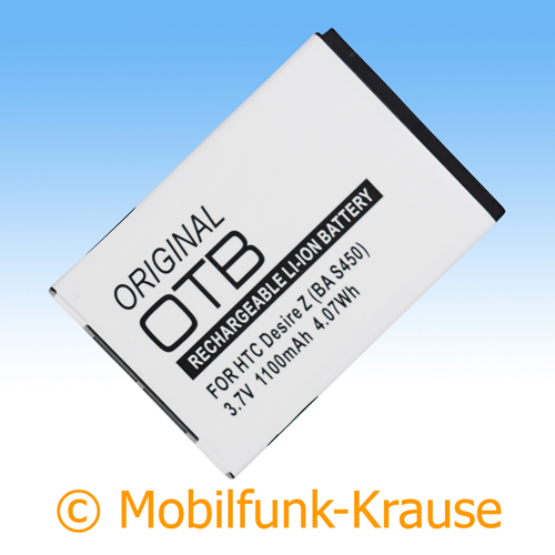 Akku für HTC Incredible S 1100mAh Li-Ionen (BA S520)