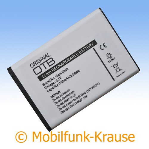 Akku für Samsung GT-E1200 / E1200 550mAh Li-Ionen (AB463446BU)