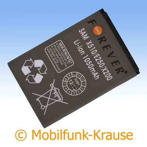 Akku für Samsung GT-E1270 / E1270 1050mAh Li-Ionen (AB463446BU)