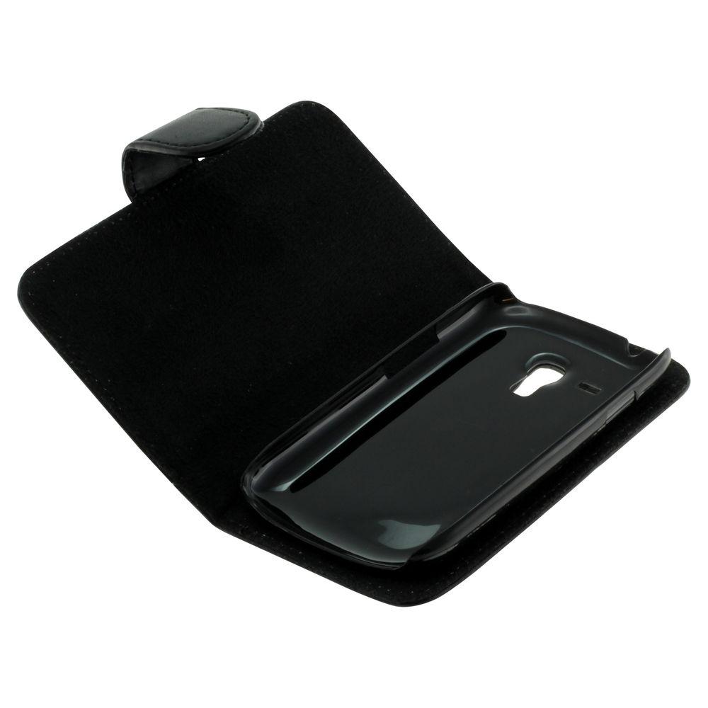 Book Case für Samsung Galaxy S 3 Mini VE (Schwarz)