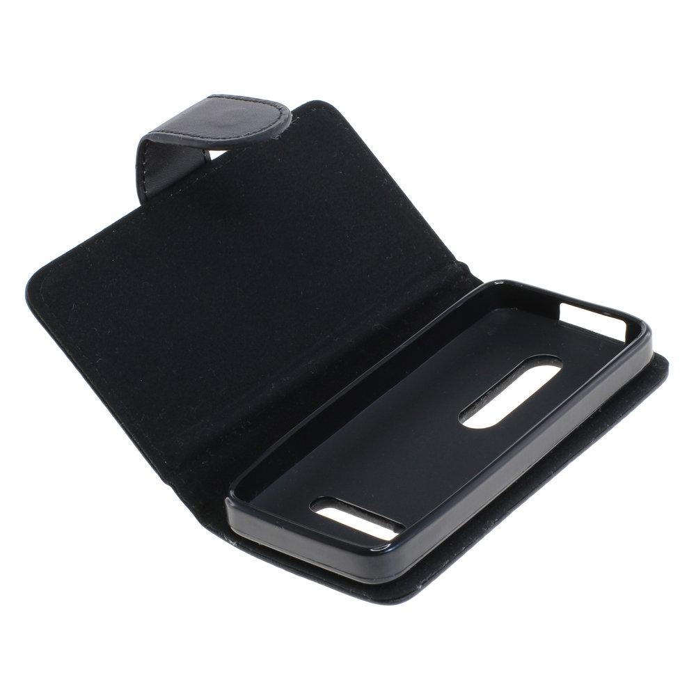 Book Case für Nokia 301 (Schwarz)