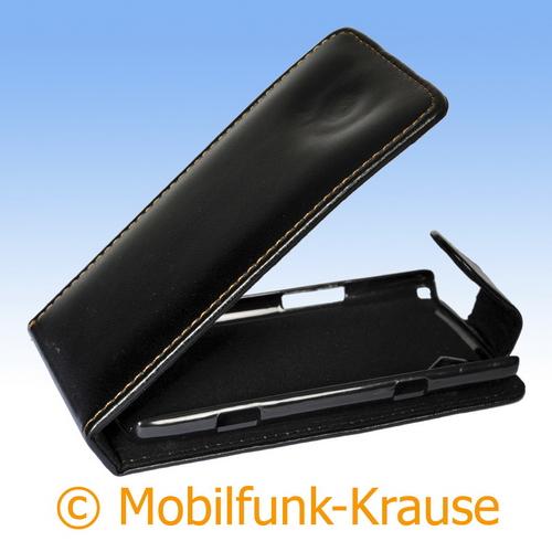 Flip Case für Samsung GT-S8500 / S8500 (Schwarz)