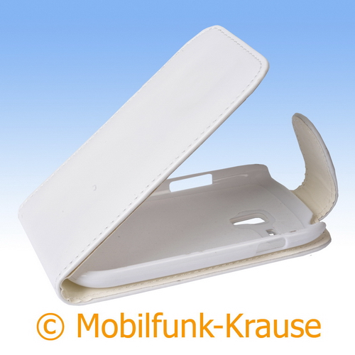 Flip Case für Samsung GT-I8200 / I8200 (Weiß)