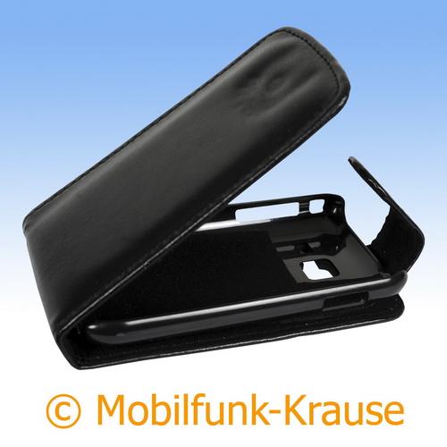 Flip Case für Samsung Wave 538 (Schwarz)