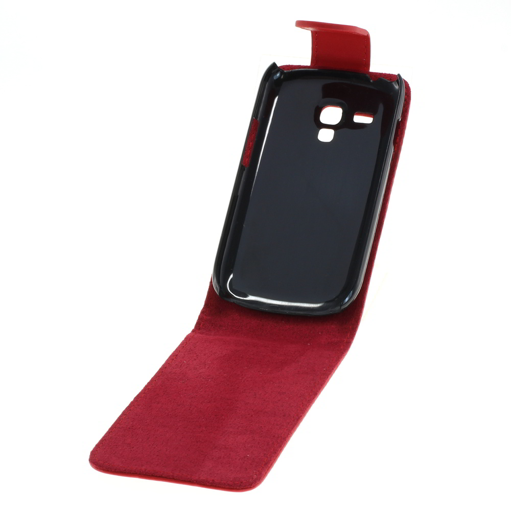 Flip Case für Samsung Galaxy S 3 Mini VE (Rot)