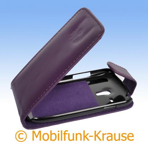 Flip Case für Samsung GT-I8200 / I8200 (Violett)