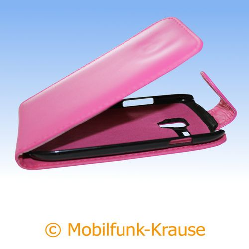 Flip Case für Samsung Galaxy S 3 Mini VE (Pink)