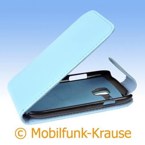 Flip Case für Samsung GT-I8200 / I8200 (Türkis)