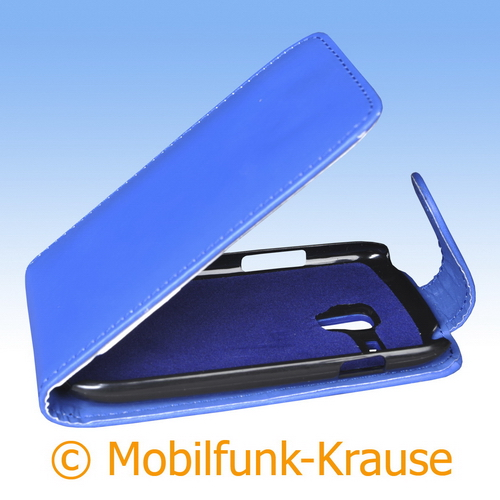 Flip Case für Samsung GT-I8200 / I8200 (Blau)