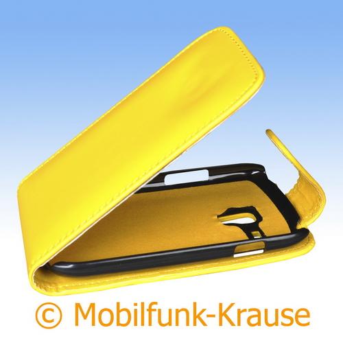 Flip Case für Samsung Galaxy S 3 Mini VE (Gelb)