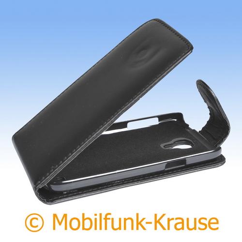 Flip Case für Samsung Galaxy S 4 Mini (Schwarz)