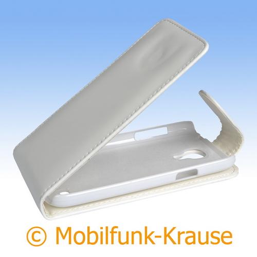 Flip Case für Samsung Galaxy S 4 Mini (Weiß)