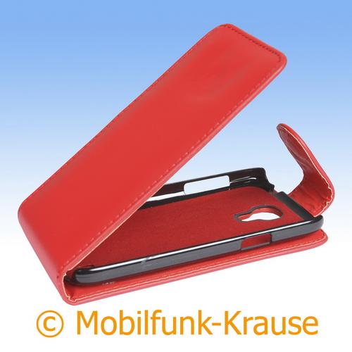 Flip Case für Samsung Galaxy S 4 Mini (Rot)