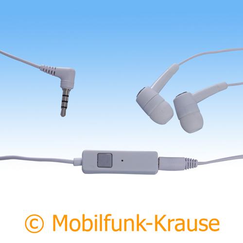 Headset Stereo für Samsung GT-S8500 / S8500 (Weiß)