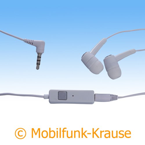 Headset Stereo für Samsung GT-I8200 / I8200 (Weiß)