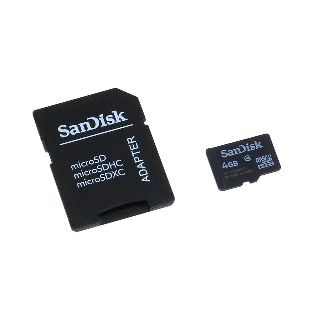 Speicherkarte SanDisk microSD 4GB für Samsung GT-S8500 Wave